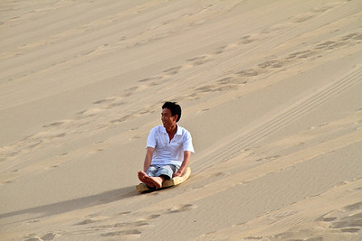 Sledging at the Singing Mountains, Dunhuang