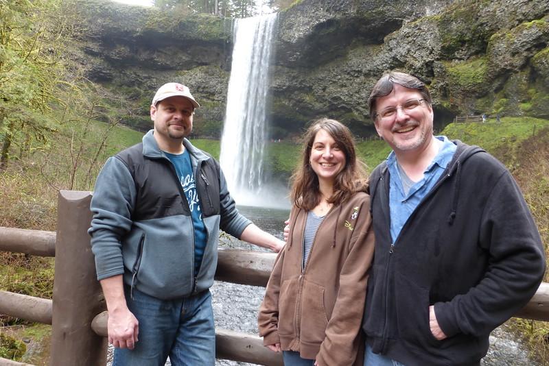 Posing for the camera at South Falls