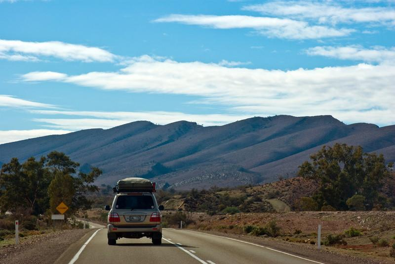 On the road to Leigh Creek