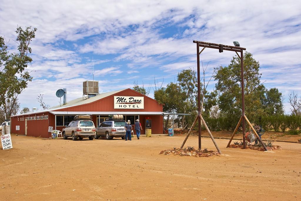 Mt Dare, last supply stop before the Simpson