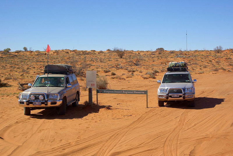 The French line, Simpson Desert