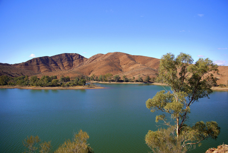 Aroona Dam, water supply for Leigh Creek.