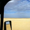 Driving the salt lake. Simpson Desert