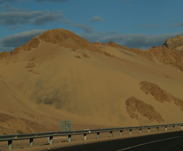 Sinai sand dune.  The dunes are BIG; this one looked to be at least 200 feet high.