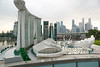Model of the finished Marina Bay Sands situated on the site of the Singapore Flyer.