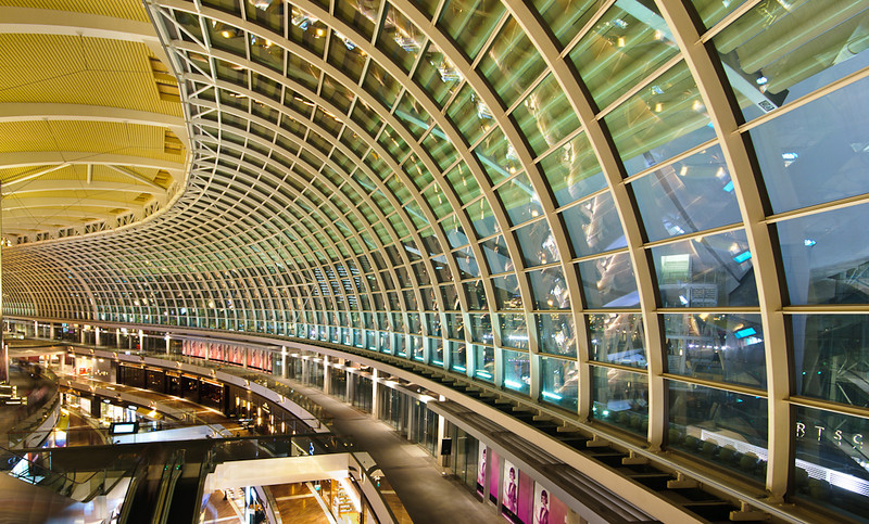 Inside Marina Bay shopping centre