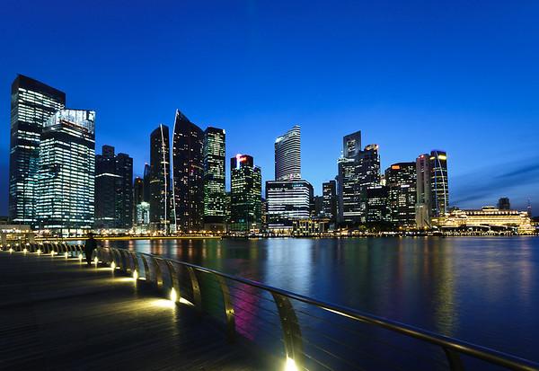 Singapore skyline, Marina Bay, favoritt