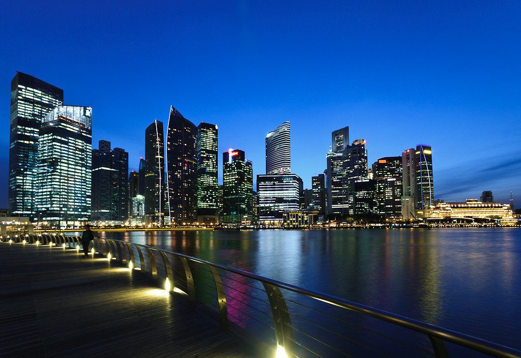 Singapore skyline, Marina Bay, favoritt