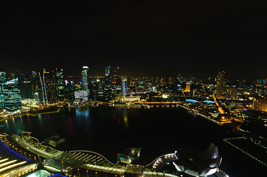 View over Singapore from Marina Bay Sands Hotel