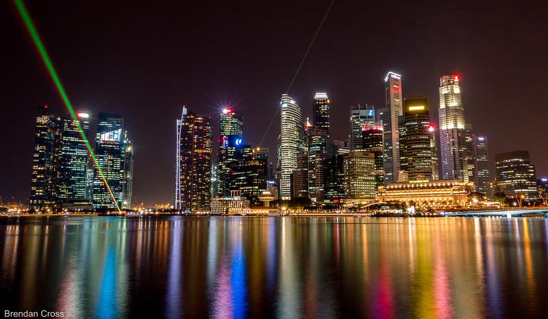 The Singapore Skyline is MACK. Ultra modern. Sleek. Smoove.