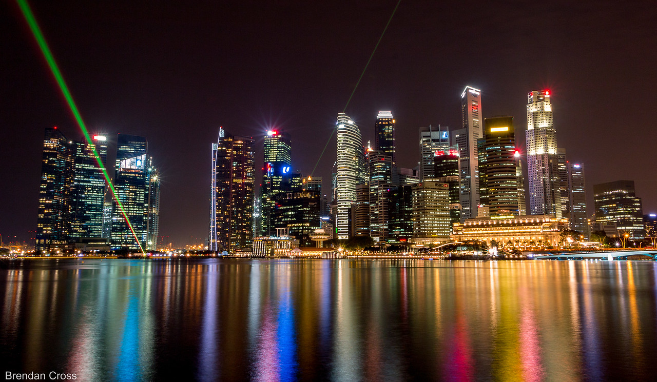 The Singapore Skyline is MACK. Ultra modern. Sleek. Smoove.