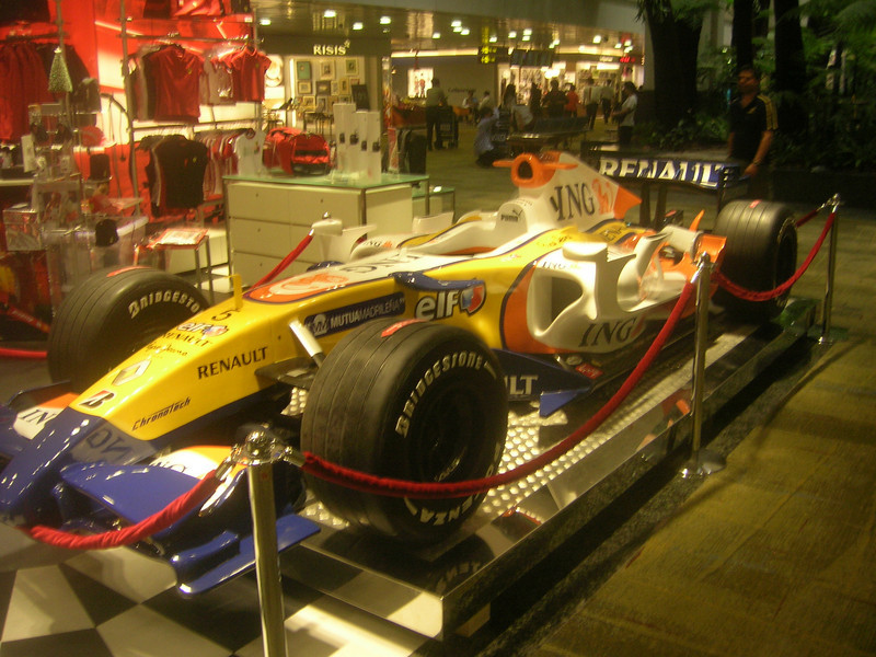 F1 at Singapore Airport