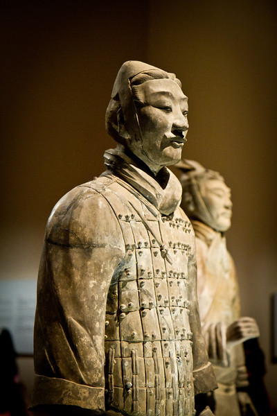 Terracotta Warrior from China, in the Asian Museum in Singapore