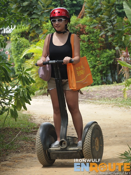 Hannah of Flaircandy.com on the Segway