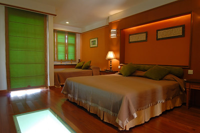 The room at The Legend Water Chalets, Port Dickson, Negeri Sembilan.Malaysia.   http://www.legendwaterchalets.com.my/