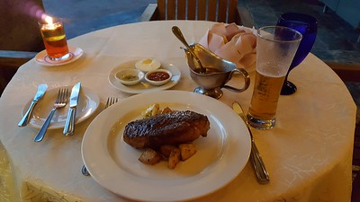 More steak & potatoes paired with a Heineken