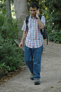 My friend Varun Arora during our visit to Singapore Zoo. Varun helped me get the Nikon D70. First day out with the camera! May, 2004.