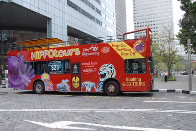 City Sightseing Bus - Hippotours - including the frog, dug and amphibious vehicles. Singapore, South East Asia.