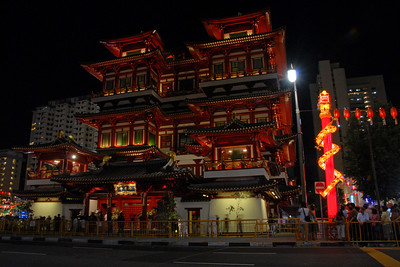On 30th May, 2007, The Buddha Tooth Relic temple which is the biggest Buddhist temple in Singapore was re-opened after renovation. The temple is dedicated to Maitreya Buddha, and it houses the Sacred Buddha Tooth Relic.   Singapore's Chinatown is an ethnic neighbourhood featuring distinctly Chinese cultural elements and a historically concentrated ethnic Chinese population although it also houses many other religious places such as the Hindu Sri Mariamman Temple and Jamae Mosque.