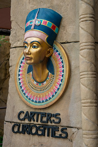 Carter's Curiosities. Ancient Egypt ride at Universal Studios, Resorts World Sentosa, Singapore.  Ancient Egypt is based on the historical adaptation of Ancient Egypt during the 1930s Golden Age of Egyptian Exploration.