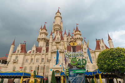 """Far Far Away is inspired by DreamWorks Animation's hit movie Shrek which depicted how the fairy-tale characters lived in daily life. Consisting of many recognizable locations from the film series, and the main highlight is the 40-metre tall """"Far Far Away Castle""""."""