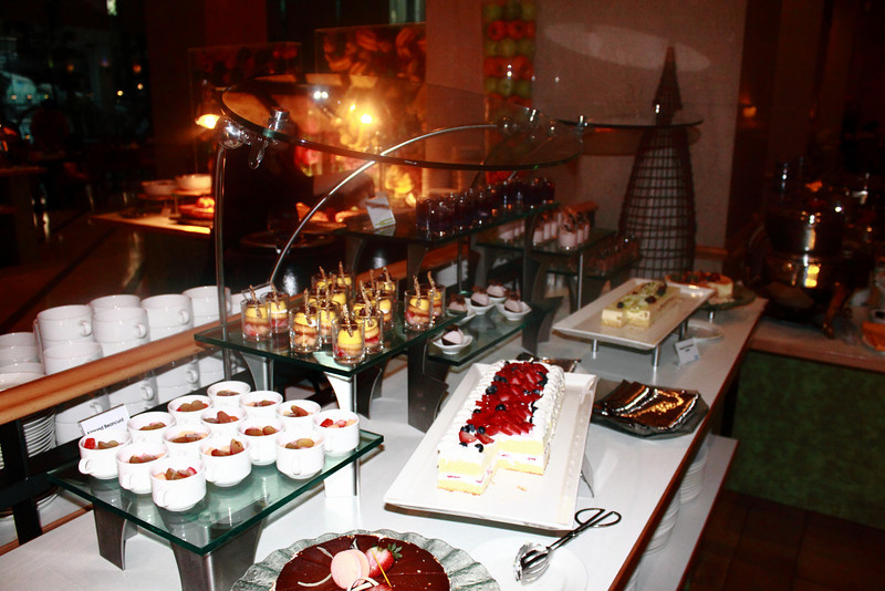 The hotel dessert bar is edible art.
