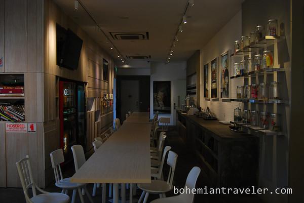 Inside Bunc Hostel in Little India, Singapore.