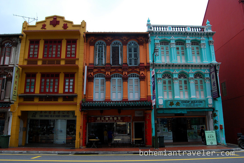 Restored houses in Singapore's Chinatown.