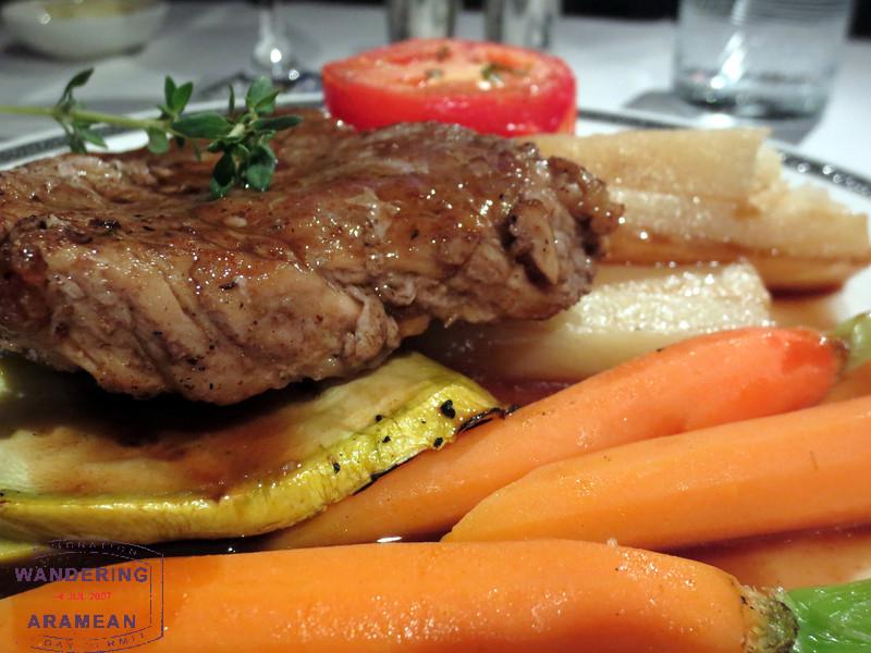 The steak was quite good