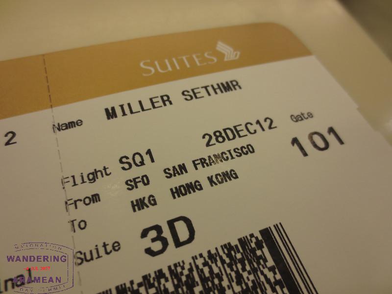 Best boarding pass ever!