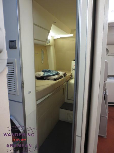 Pilot rest bunk