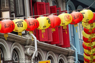 Chinese lanterns in Singapore Street