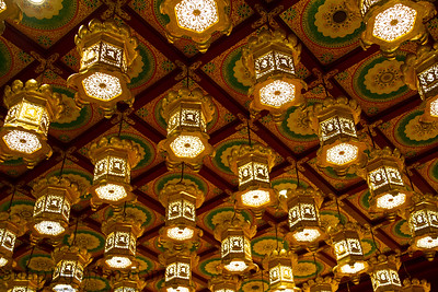 Golden oriental ceiling lanterns