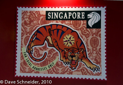 Big versions of Singaporean stamps corresponding the years of the lunar calendar