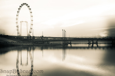 Golden Hour and the Singapore Flyer