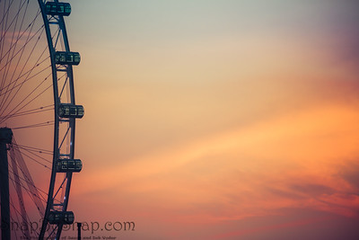 Detail of a Ferris Wheel at Dawn with Copy Space