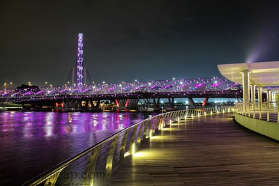 Singapore Walking Path at Night