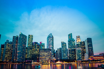 Singapore Skyline in the Blue Hour