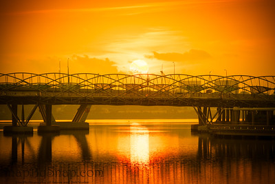 The Helix Bridge at Dawn