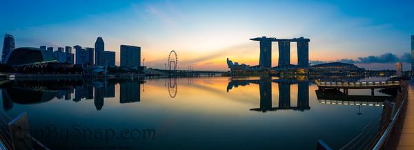Morning Panorama of the Singapore Skyline