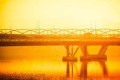 Brilliant Sun and Bridge