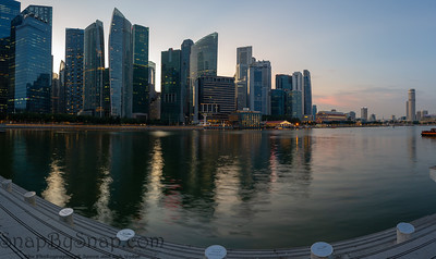 Singapore City at Night Panorama