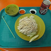 one of the best meals ever - Tian Tian Hainanese Chicken Rice at Maxwell Food Center in Singapore