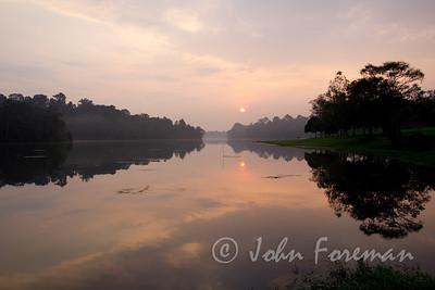 Dawn over MacRitchie Reservoir, Singapore