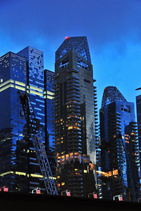 Singapore skyline at dusk - unfortunately I didn't bring a tripod