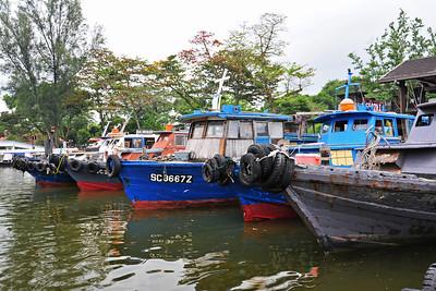 Waiting for the bumboat to Palau Ubin island