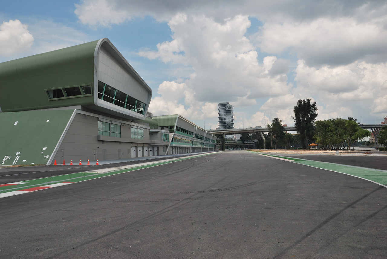 Down the track towards pole