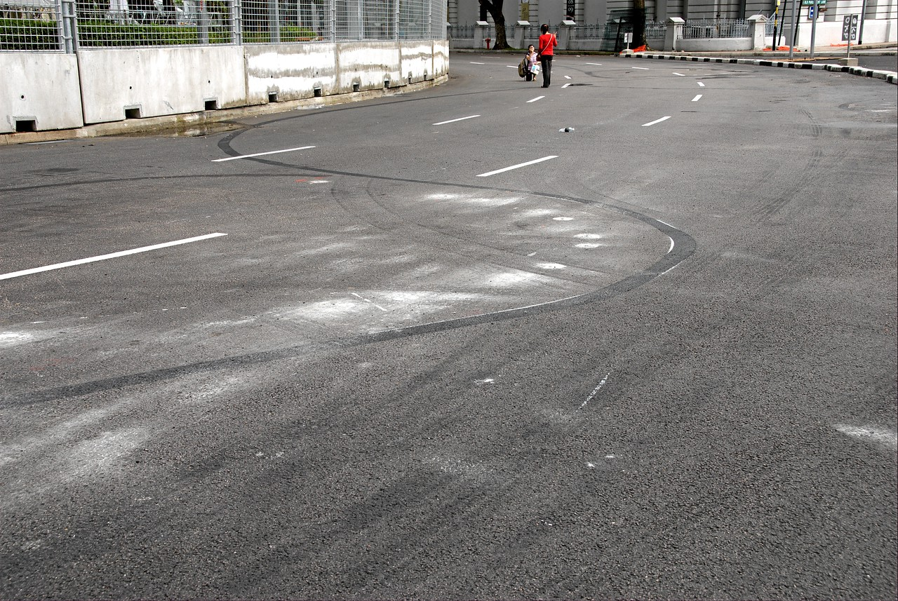 The controversial turn 10 kerbs have gone