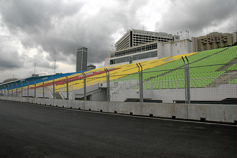 Grandstand between turns 19 and 20