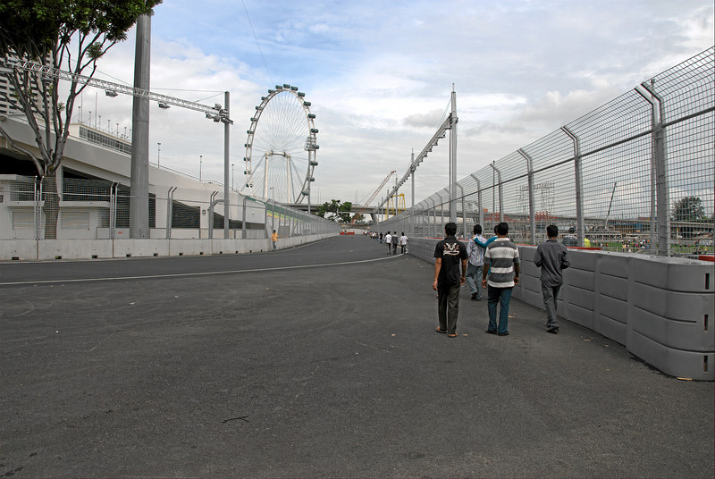Looking from turn 19 towards turn 20